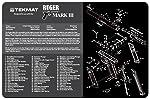 TekMat Ruger Mark III - Alfombrilla de Limpieza para Pistola, 11 x 17 de Grosor, Duradera, Resistente al Agua, con...