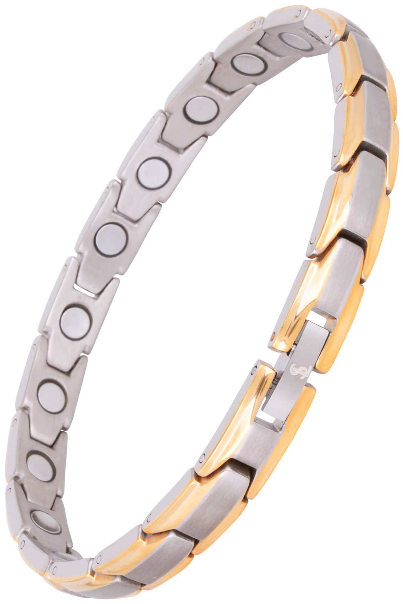Elegant Womens Titanium Magnetic Therapy Bracelet Pain Relief for Arthritis and Carpal Tunnel by Smarter LifeStyle