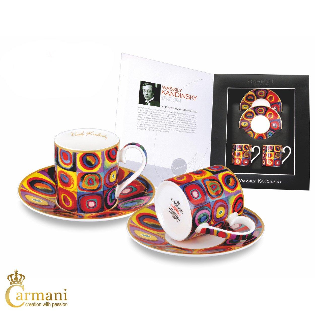 CARMANI - 2-pieces Espresso Set with Wassily Kandinsky