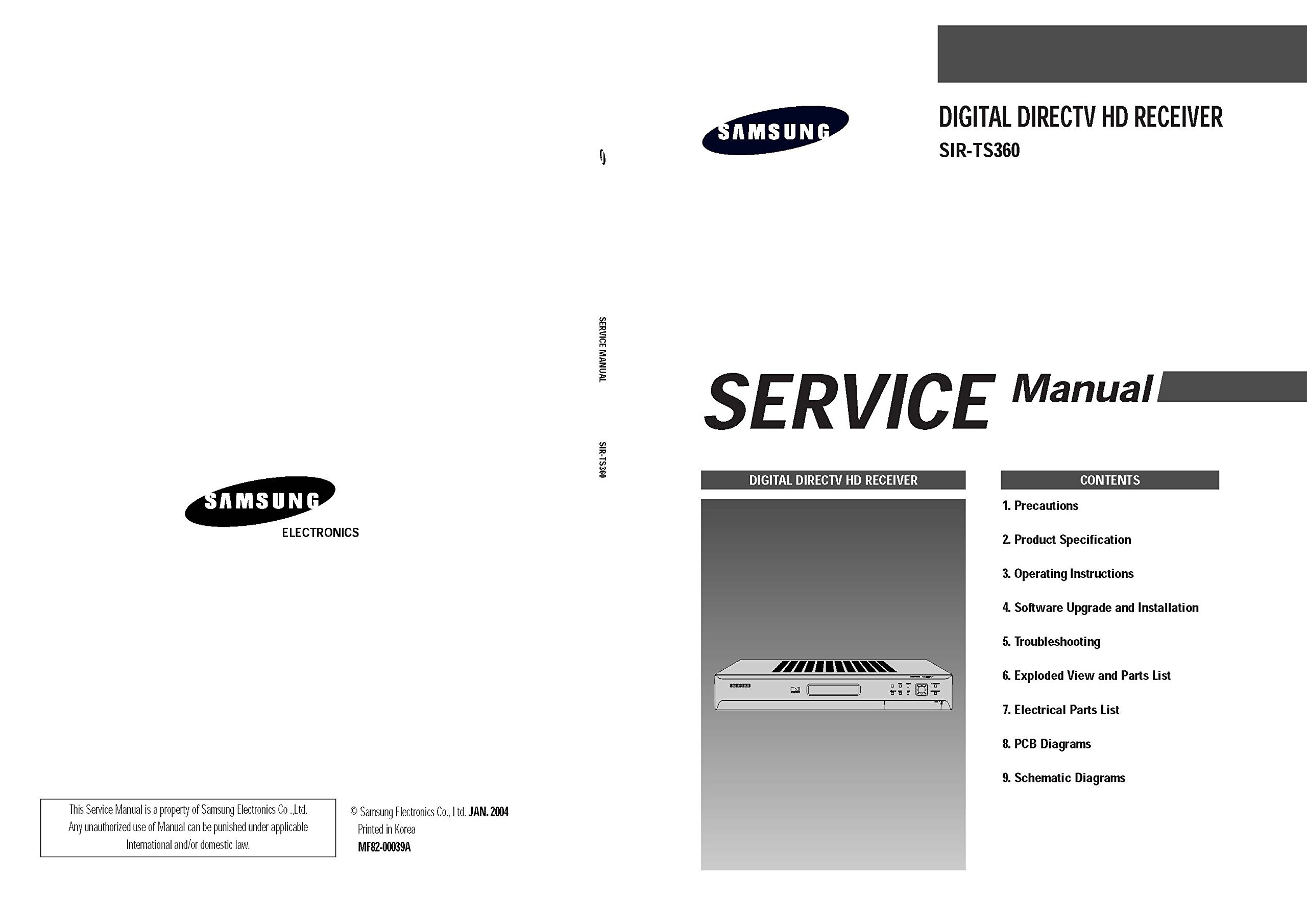 Samsung sir-ts360 owner's manual pdf download.
