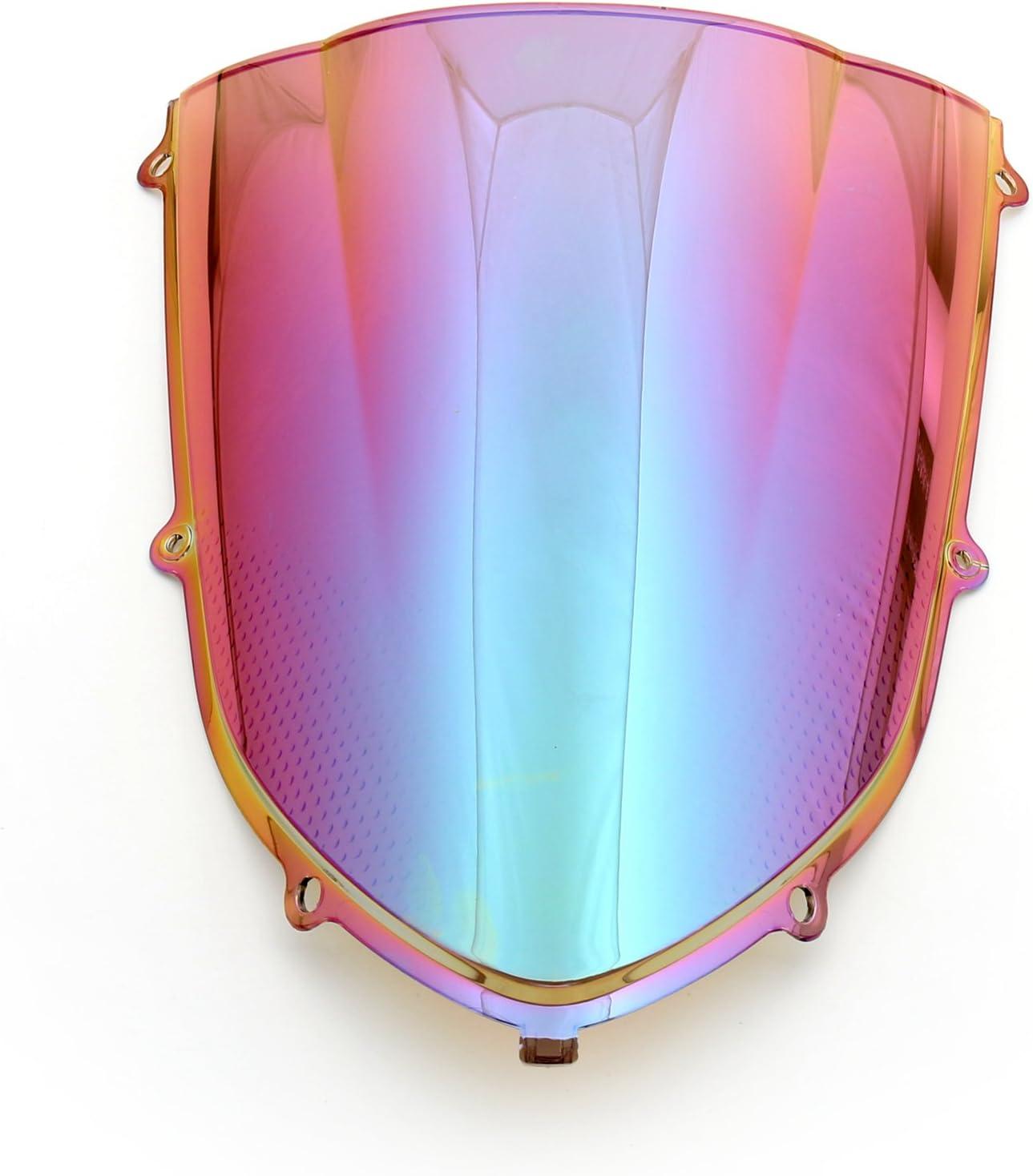 Artudatech Parabrisas de motocicleta de doble burbuja frontal parabrisas para motocicleta K-A-W-A-S-A-K-I ZX10R ZX 10R 2004-2005.