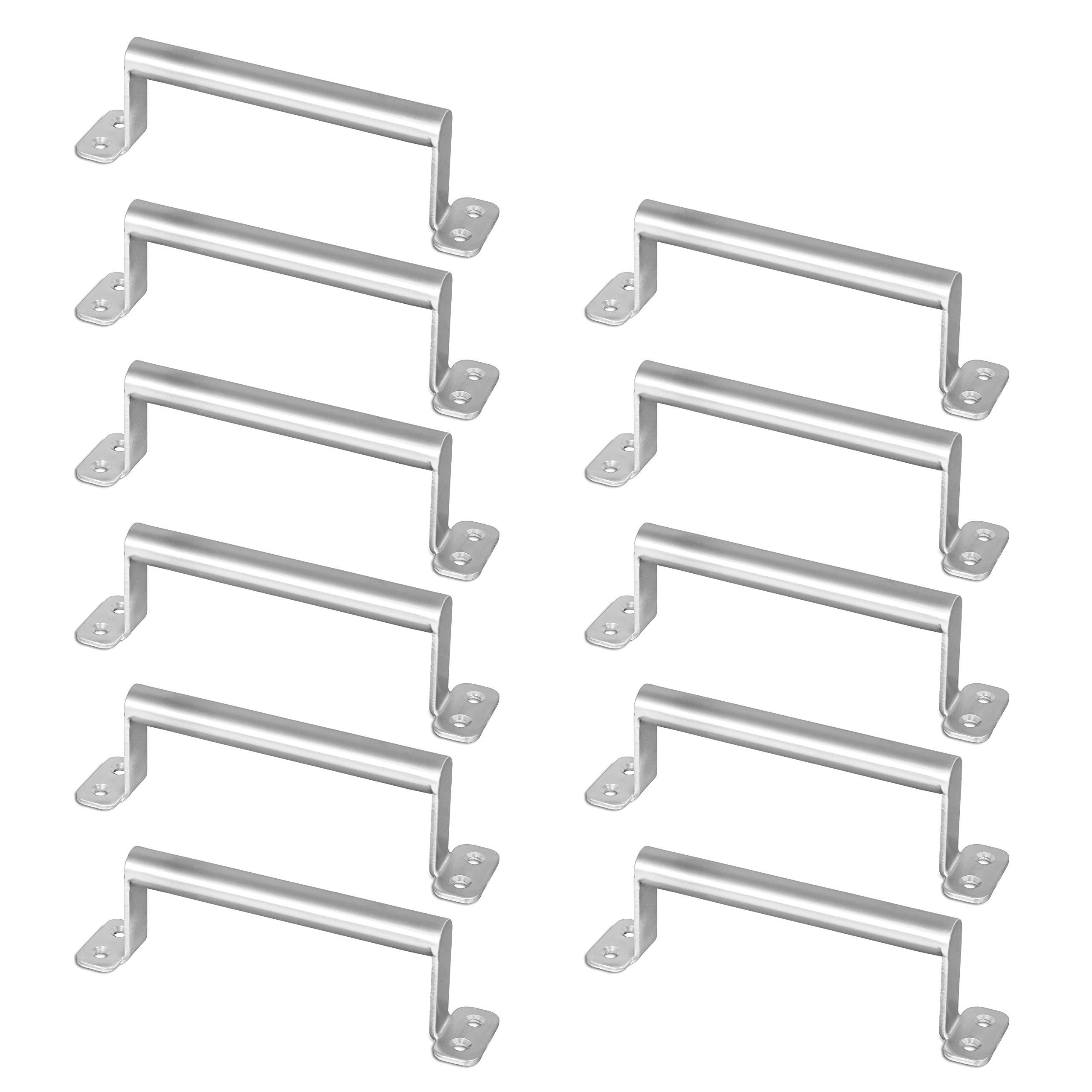 WEBI Barn Door Handle, 5.7'' Stainless Steel Center-to-Center Door Pull,Cabinet Knob for Gate,Closet,Bathroom,Drawer, Kitchen Furniture,Brush Nickel,11 Packs