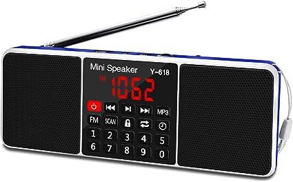 Retekess TR602 FM//AM Stereo Radio AUX audio input Large LED Display+Sleep Timer