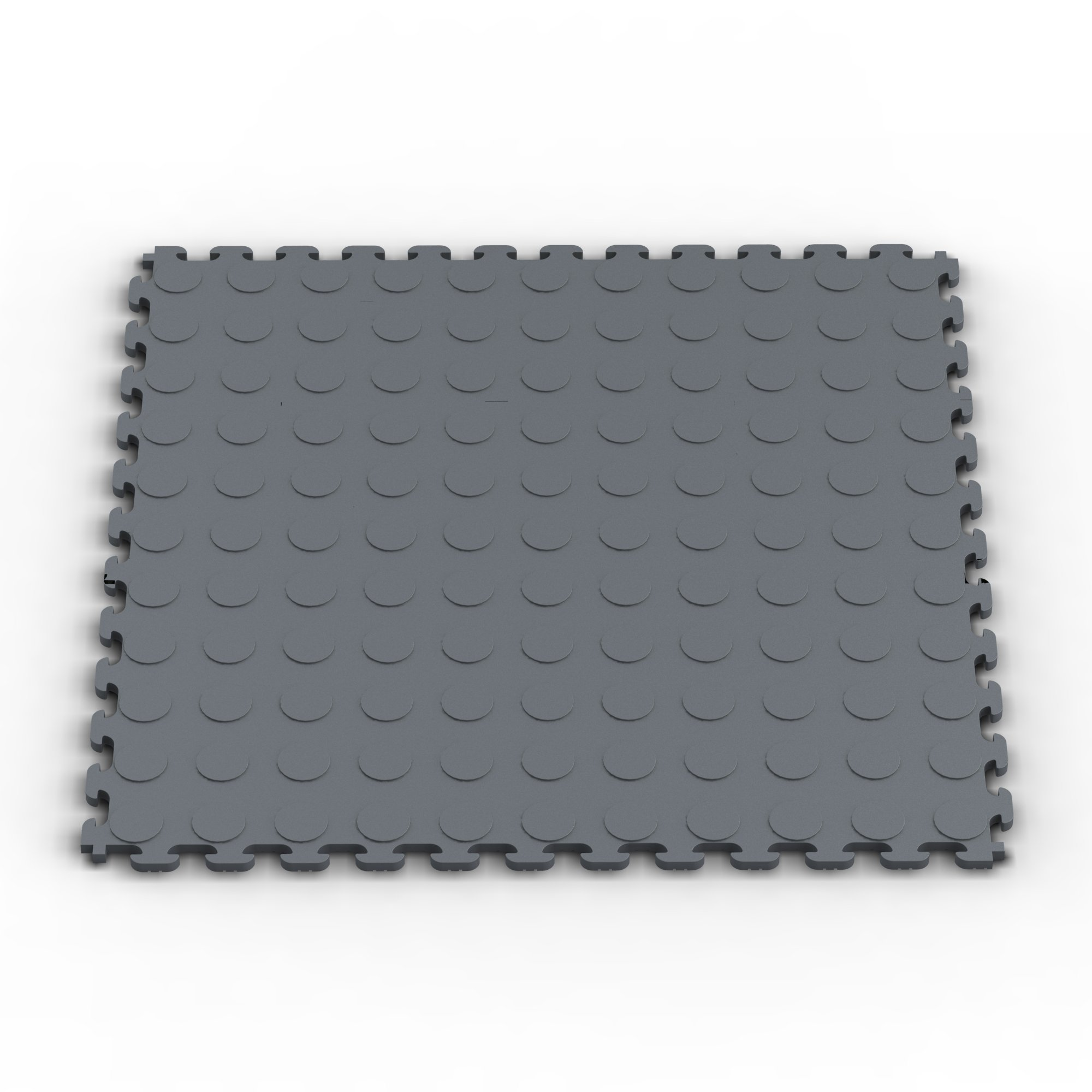 Norsk NSMPRC6DG Raised Coin Multi-Purpose PVC Flooring, Dove Gray, 6-Pack by Norsk-Stor (Image #1)