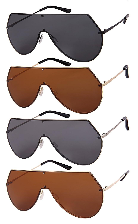Edge I-Wear Sheild Style One Piece Sunnies w//Flat Lens 55683-FLFM
