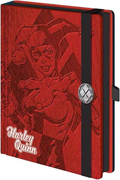 Harley Quinn I am Crazy for You A5 Wire Notebook