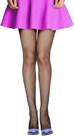 Big Hole Black Fishnet Tights Womens Hosiery Pantyhose Fish Net Costume OS New
