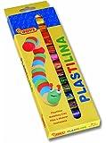 JOVI® PLASTILINA Vegetable-Based Non-Hardening Modeling Clay; Box 15-color sticks (0.5 oz. each)