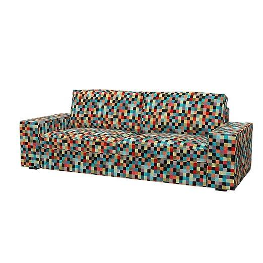 Soferia - IKEA KIVIK Funda para sofá de 3 plazas, Mozaik Red ...