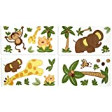NoJo Jungle Babies Wall Decals