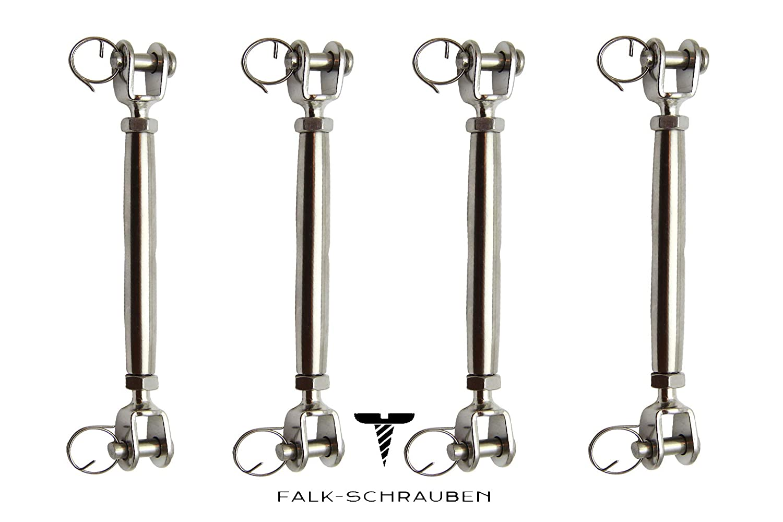 5 Stück WANTENSPANNER Falk-Schrauben Falk-Schrauben Falk-Schrauben AISI 316 NIRO Gabel geschweißt, geschlossen, Edelstahl A4 GABEL-GABEL-M10 B07L19DWTH Deckbeschlge Für Ihre Wahl 759ba3