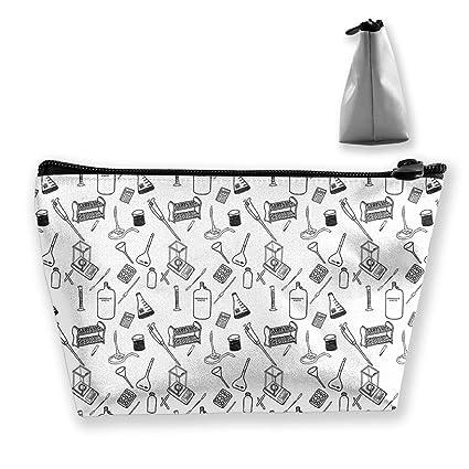 Amazon Com Modreach Fashion Hand Draw Chemistry Cosmetic Bag Makeup