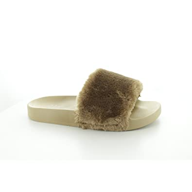 3188330ada1a Shumo TITO Ladies Fur Sliders Taupe  Amazon.co.uk  Shoes   Bags