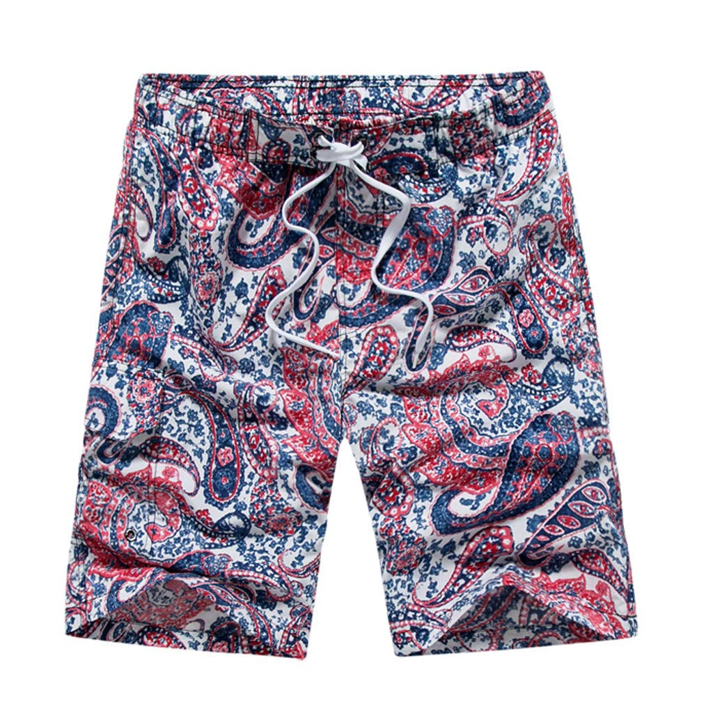 Jiayit 2019 Men Swim Trunks Quick Dry Bathing Suits Beach Holiday Party Swim Board Shorts Travel Style