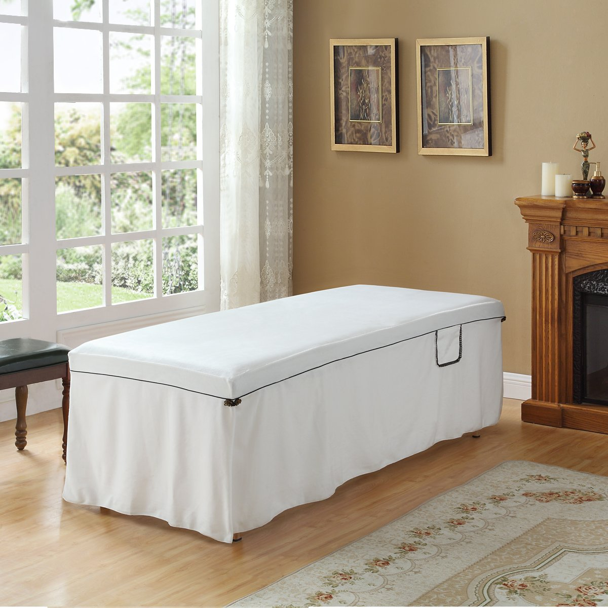 Massage Mattress Bedspread/Bed Cover/Comfortable Sheet(White) Lessismore