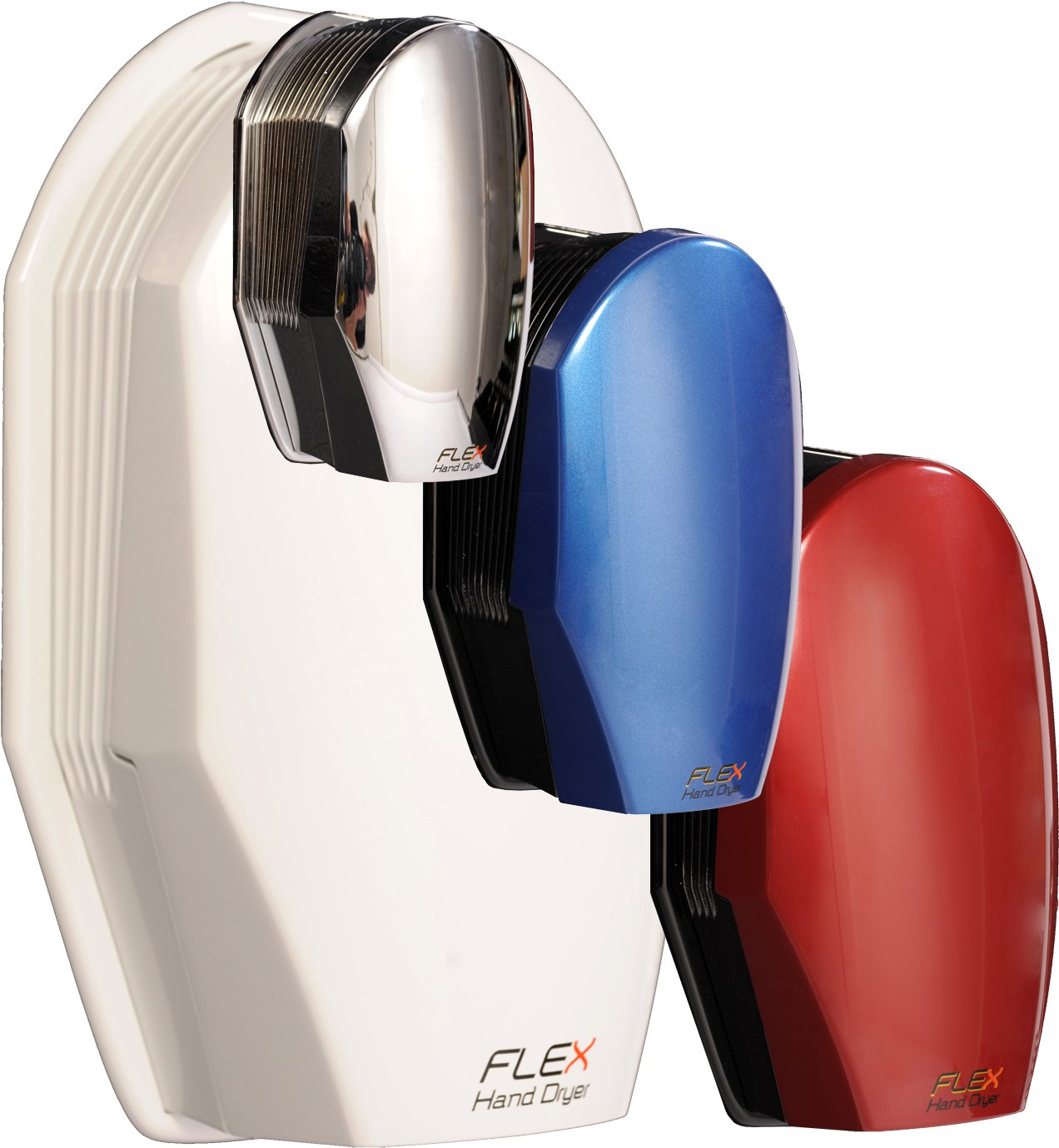 Made in Canada Heavy Duty Enclosure 10 Year Warranty Consumes only 800W Flex Hand Dryer Dries Hands in Less Than 10s Modular Design facilitates Maintenance and Upgrades Colors are availble