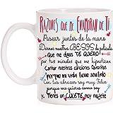FUNNY CUP Taza Razones Que me Enamoran de Ti. Regalo Divertido con Mucho Amor para Parejas. San valentín. Día de los…