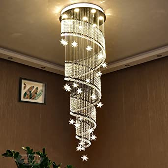 Led Modernes Duplex Treppenhaus Leuchter Kristall Lampen Landhaus