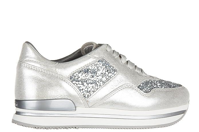 Scarpe sneakers donna in pelle h222 glitter Real En Línea Barato Amazon Venta Barata mkE6zt