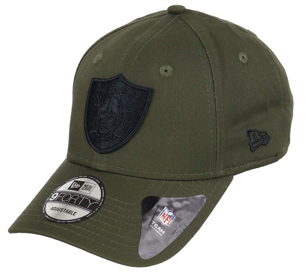 New Era Oakland Raiders 9forty Adjustable Cap NFL Olive Pack Olive ...