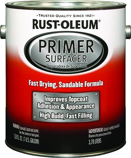Rust Oleum 249332 Primer Surfacer, Gallon, Gray (Pack of 2)