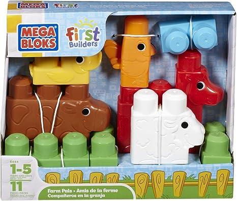 Amazon Com Mega Bloks First Builders Farm Pals Toys Games