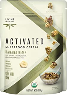 product image for Living Intentions Organic Superfood Cereal – Banana Hemp – NonGMO – Gluten Free – Vegan – Paleo – Kosher – 9 Ounce Unit