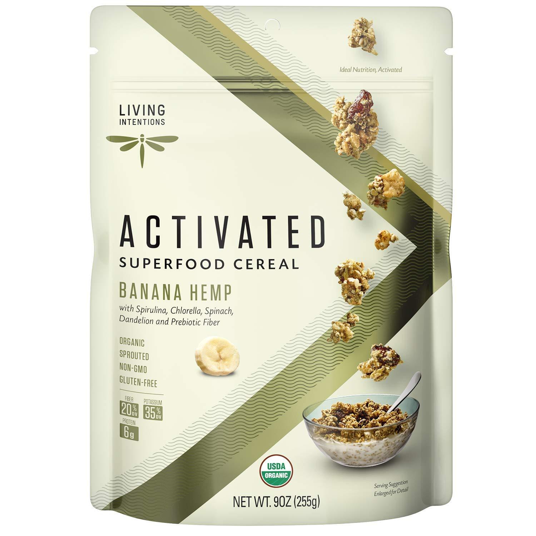 Living Intentions Organic Superfood Cereal – Banana Hemp – NonGMO – Gluten Free – Vegan – Paleo – Kosher – 9 Ounce Unit