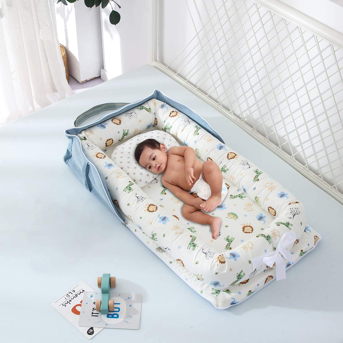 Newborn Baby Bassinet for Bed Portable Cosleeping Baby Bed for Bedroom Lounging and Travel DaMohony Baby Lounger Cuddling