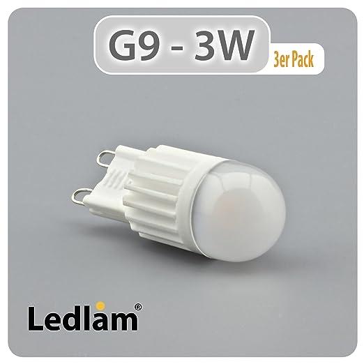 3 Pack acción bombilla Led G9 casquillo con casquillo de patillas 450CP 3 Watt (equivalente