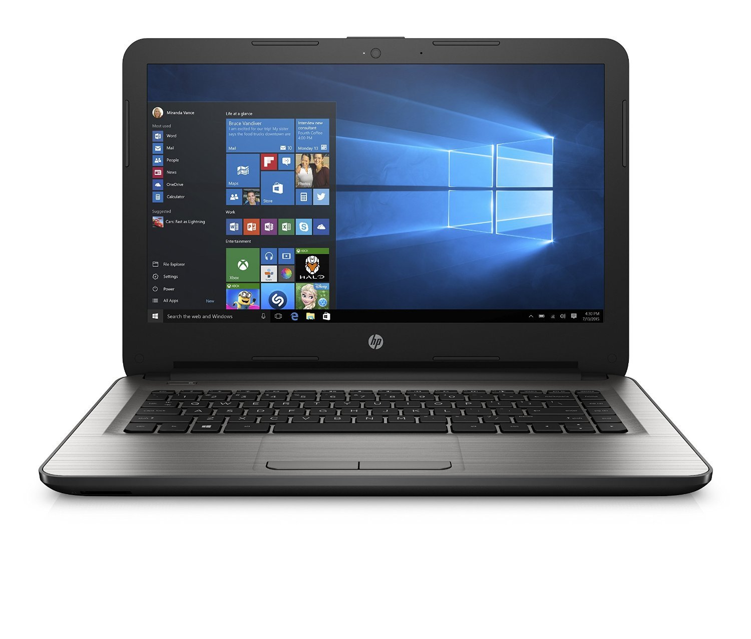 HP 14 AM081TU 14 inch Laptop  Core i5 6th Gen/4 GB/1TB/Windows 10 Home/Integrated Graphics , Turbo Silver Laptops