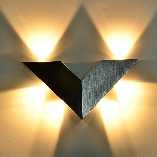 KAWELL Moderno Applique da Parete LED Lampada da Parete Alluminio ...