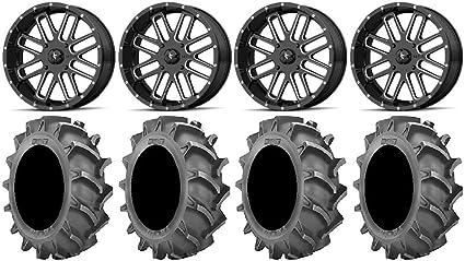 9 Items 4x156 Bolt Pattern 12mmx1.5 Lug Kit MSA Mach Switch 20 Wheels 33 BKT AT 171 Tires Bundle