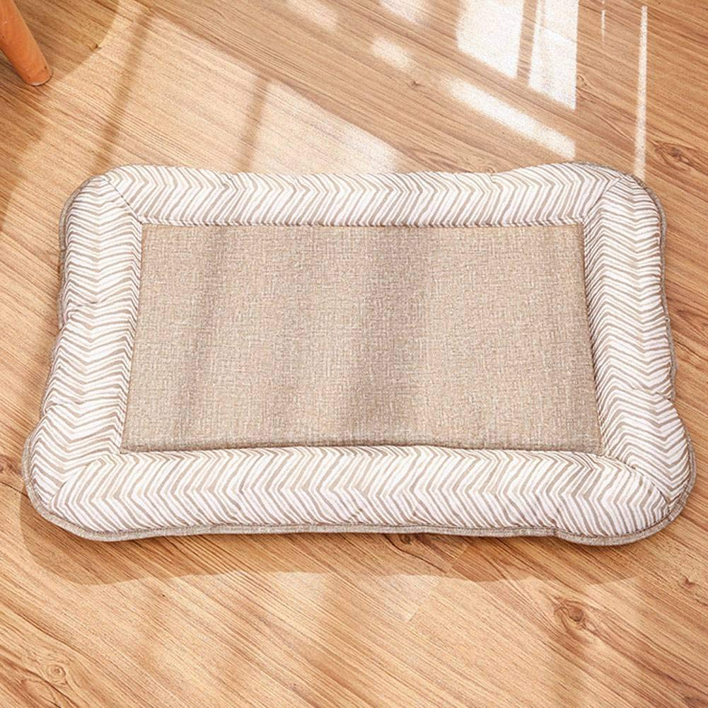 Natural-XL ADFHGFJ Pure color simple pet bed provides pets with rest in of cushions suitable for four seasons