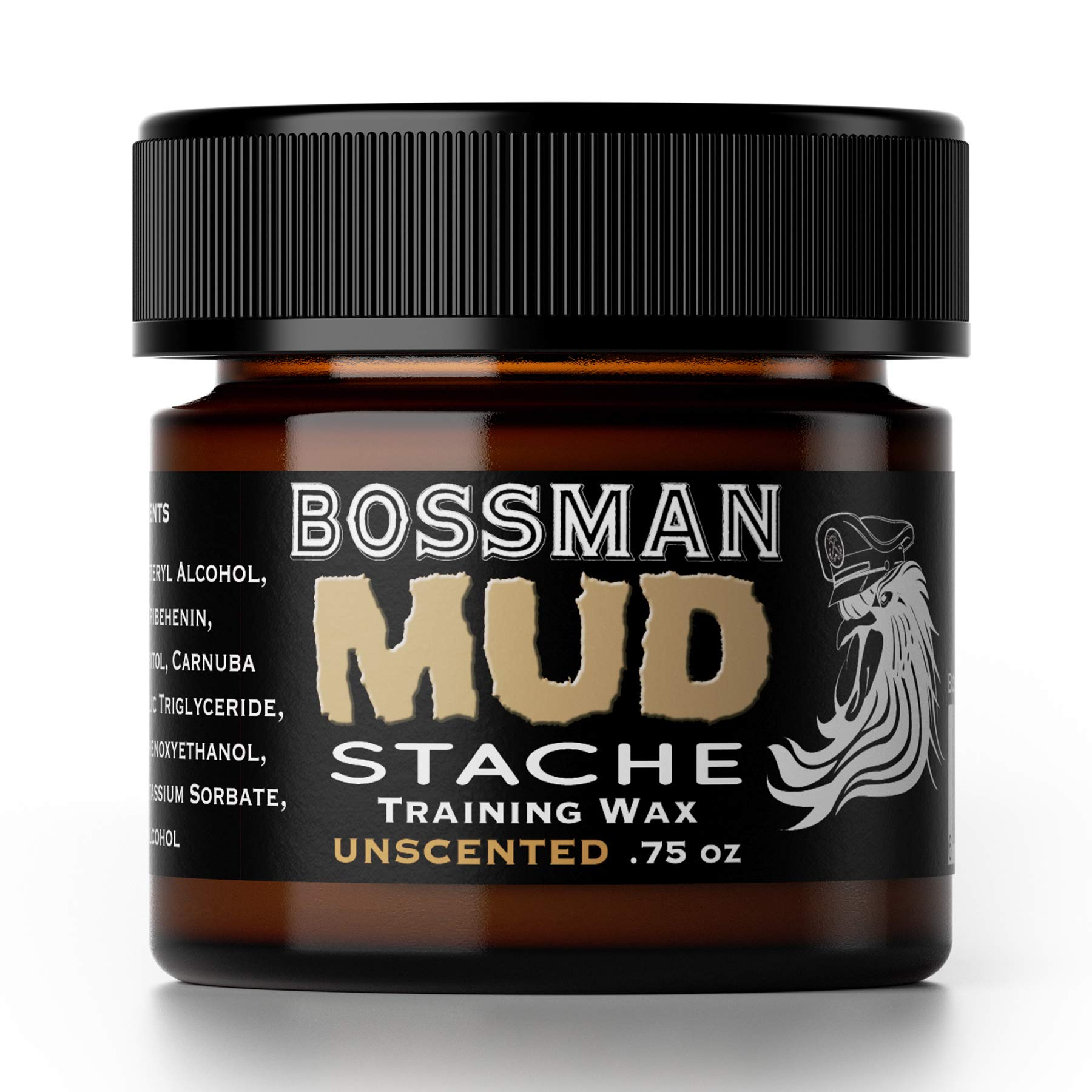 Bossman MUDstache - Mustache Training Wax, Lasts 24hrs, Unscented, No Tint. Tame, Train and Style by Bossman (Image #1)