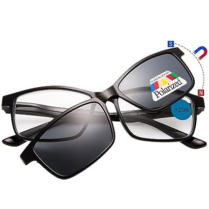 negozi popolari nuovi prodotti caldi presa di fabbrica EYEGUARD Clip Magnetica per Occhiali da Sole Occhiali da lettura Donna Uomo  Montatura Unisex +2.00