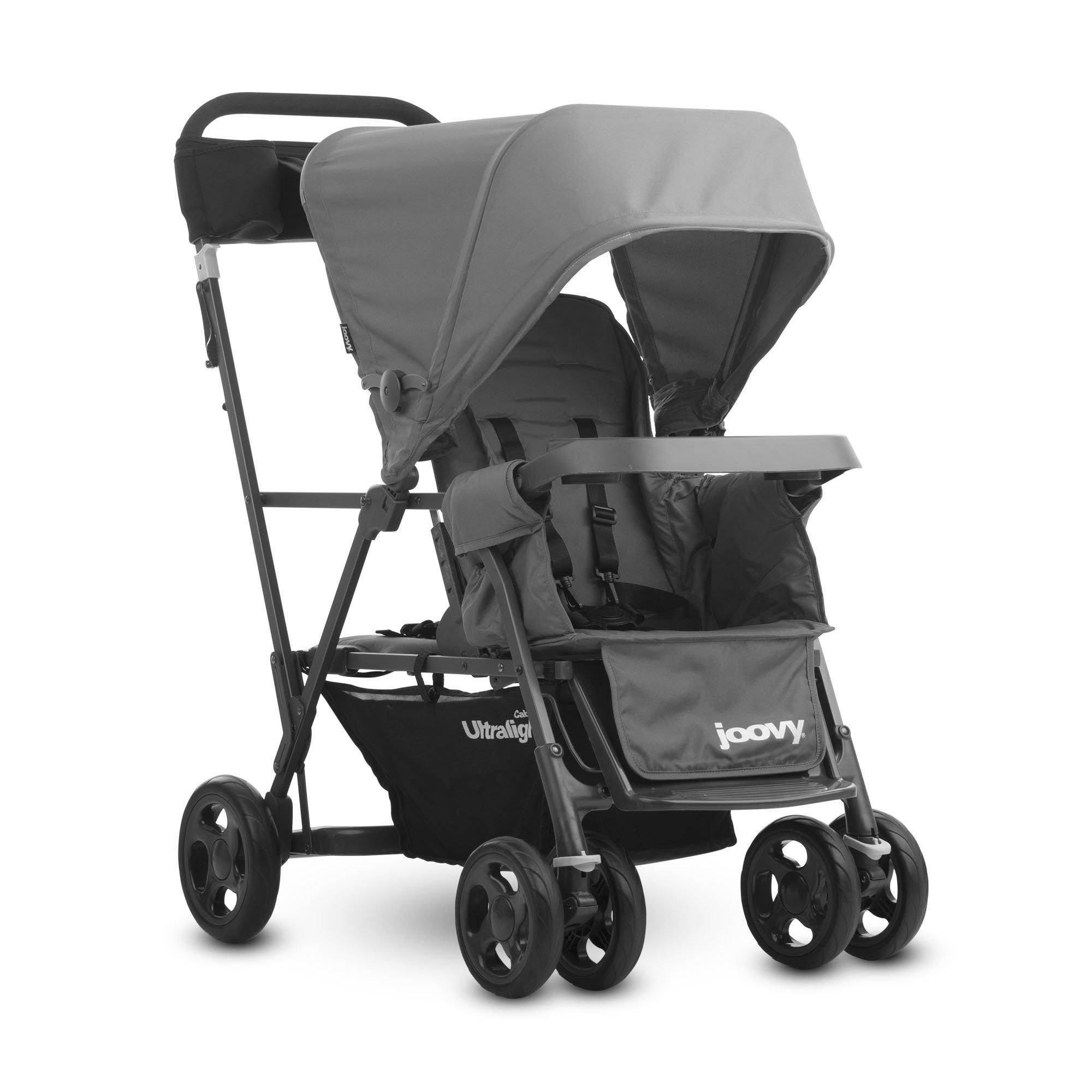 JOOVY Caboose Ultralight Graphite Stroller, Gray