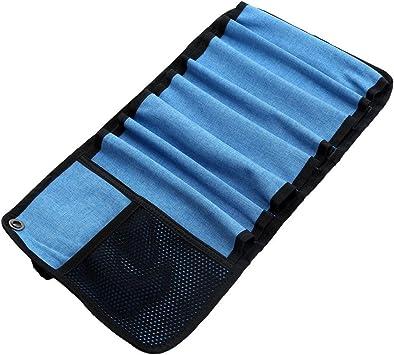 Durable Roll Up bolsa para tornillos de hielo 8 caso de almacenamiento de protección y organizar equipos de escalada de hielo accesorios
