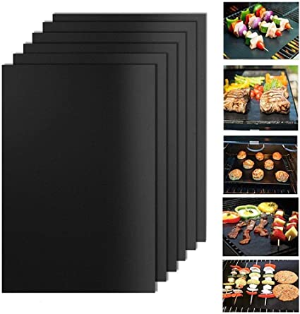 BBQ Grill Mat Reusable Non-Stick Oven Liners Teflon Cooking Barbecue Baking UK