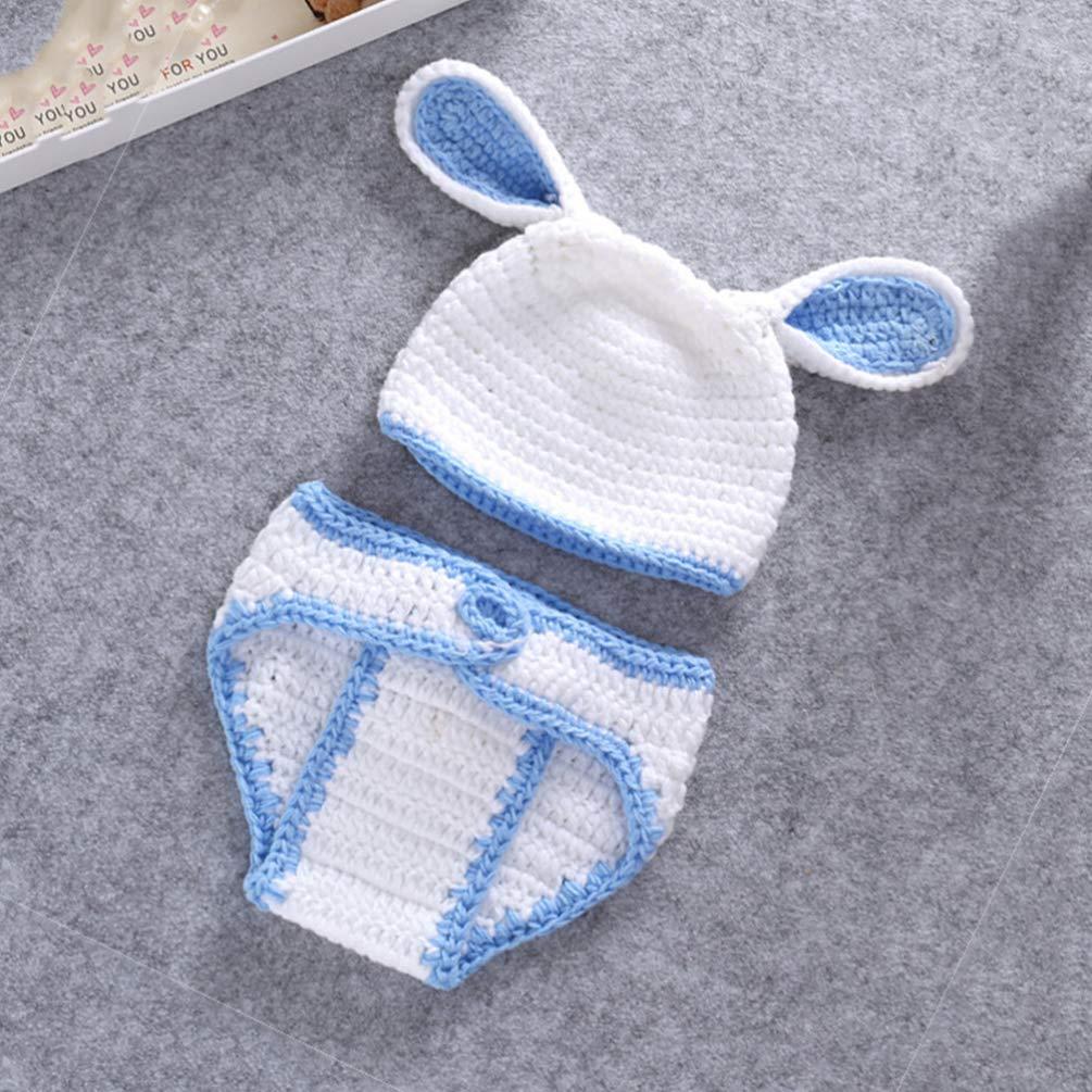 TENDYCOCO Fotografia Neonato Oggetti di Scena Costume di Pasqua Neonato Coniglietto Costume Fatto a Mano Carino Adorabile