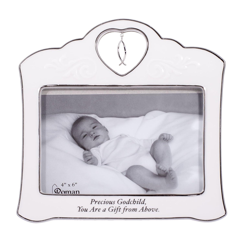 Amazon.com: Precious Godchild Crossfish Charm White Porcelain ...