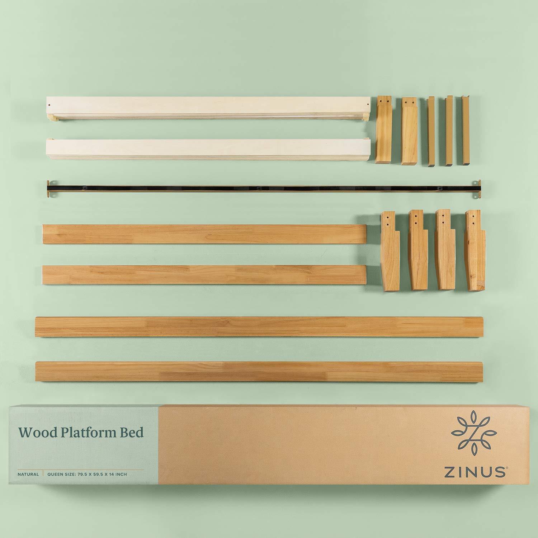 Cheap Zinus Moiz 14 Inch Wood Platform Bed No Box Spring