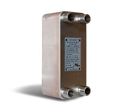 Buy Brazed Plate Heat Exchanger, 5x12- 60 Plate Water to Water Heat ...