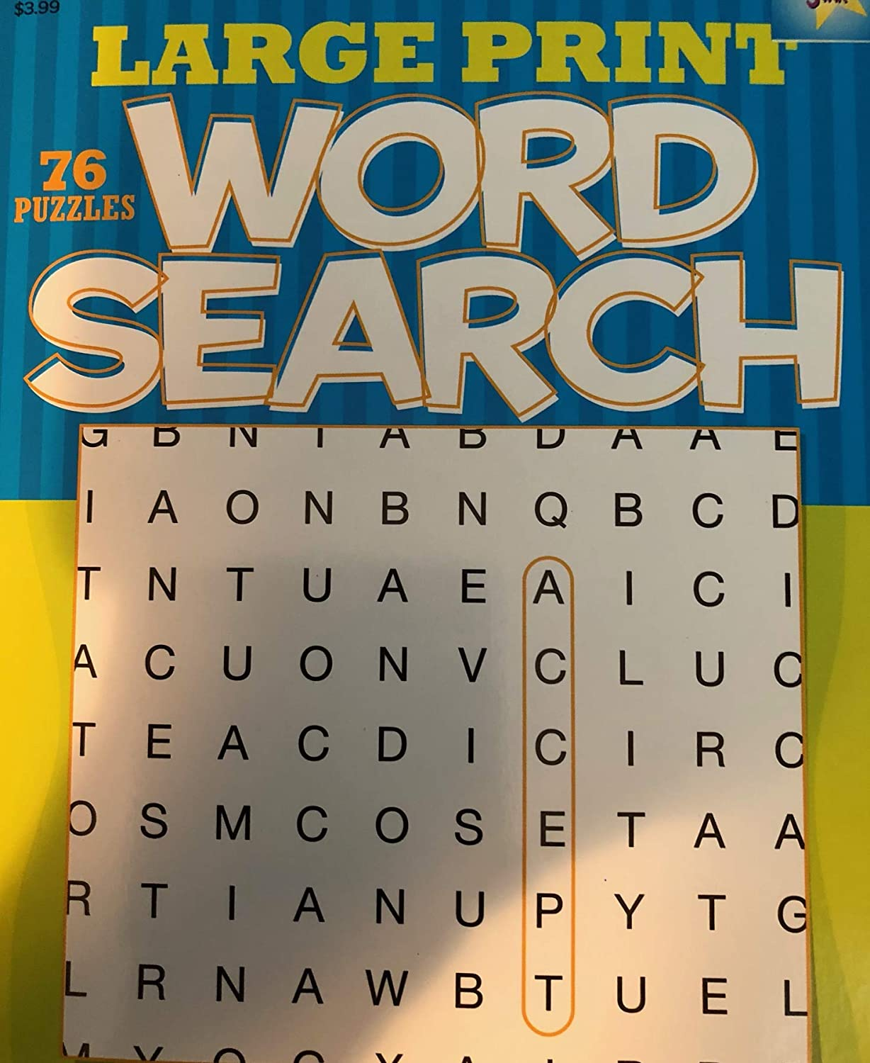 Amazon com: 76 Large Print Word Search W/Free BENDON Puzzle