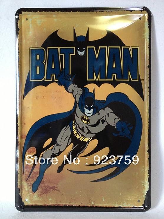 Momo Batman Paiting placa de metal Bar Pub casa decoración de la ...