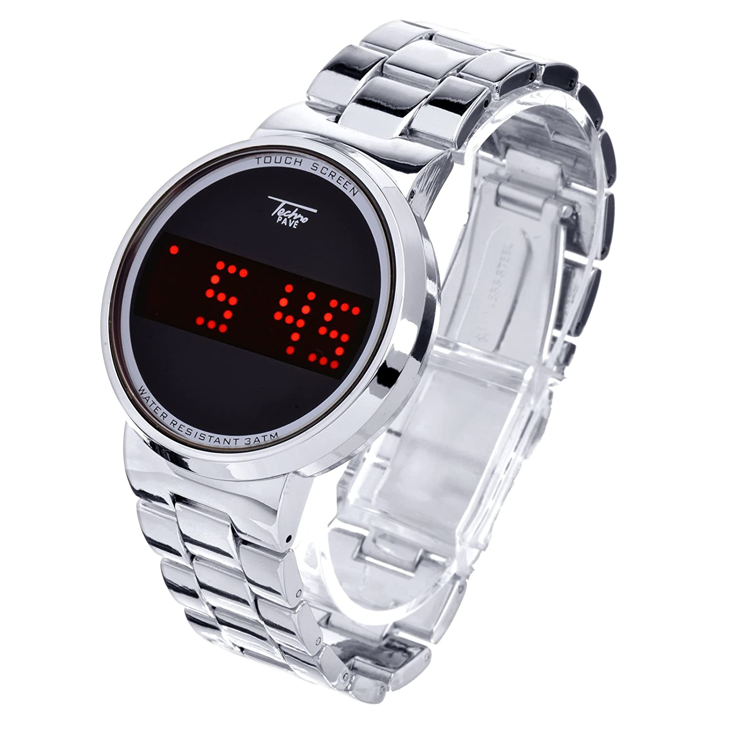 Amazon.com: Digital Touch Screen Metal Band Watches WM 8164 S: Health & Personal Care