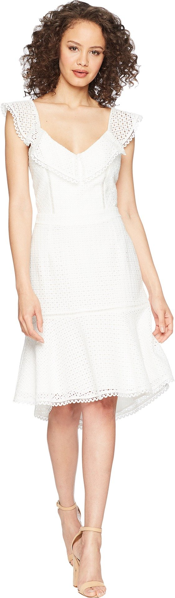 Adelyn Rae Women's Parker Trumpet Dress Off-White Medium