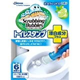 スクラビングバブル トイレ洗浄 トイレスタンプクリーナー 漂白プラス ホワイティーシトラスの香り 本体(ハンドル1本+付替用1本) 38g