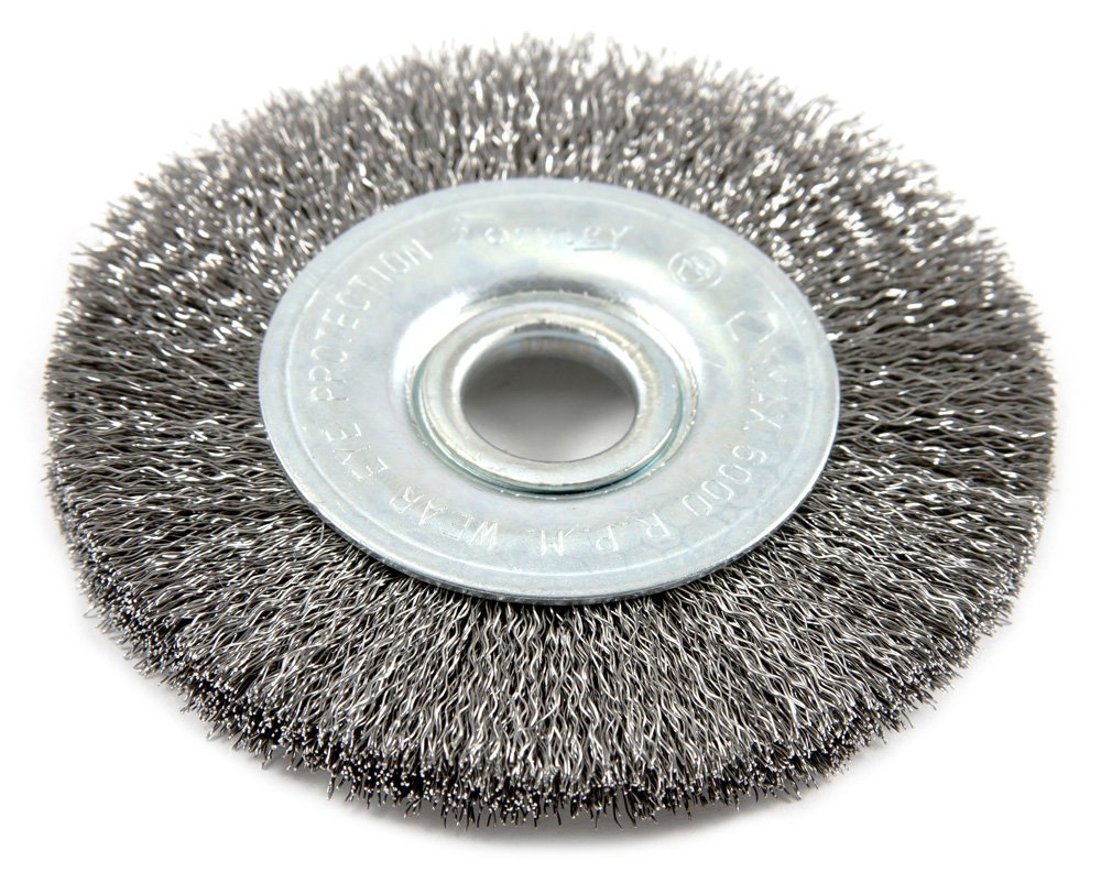 Forney 72748 Wire Wheel Brush, Fine Crimped with 1/2-Inch Arbor, 3 ...