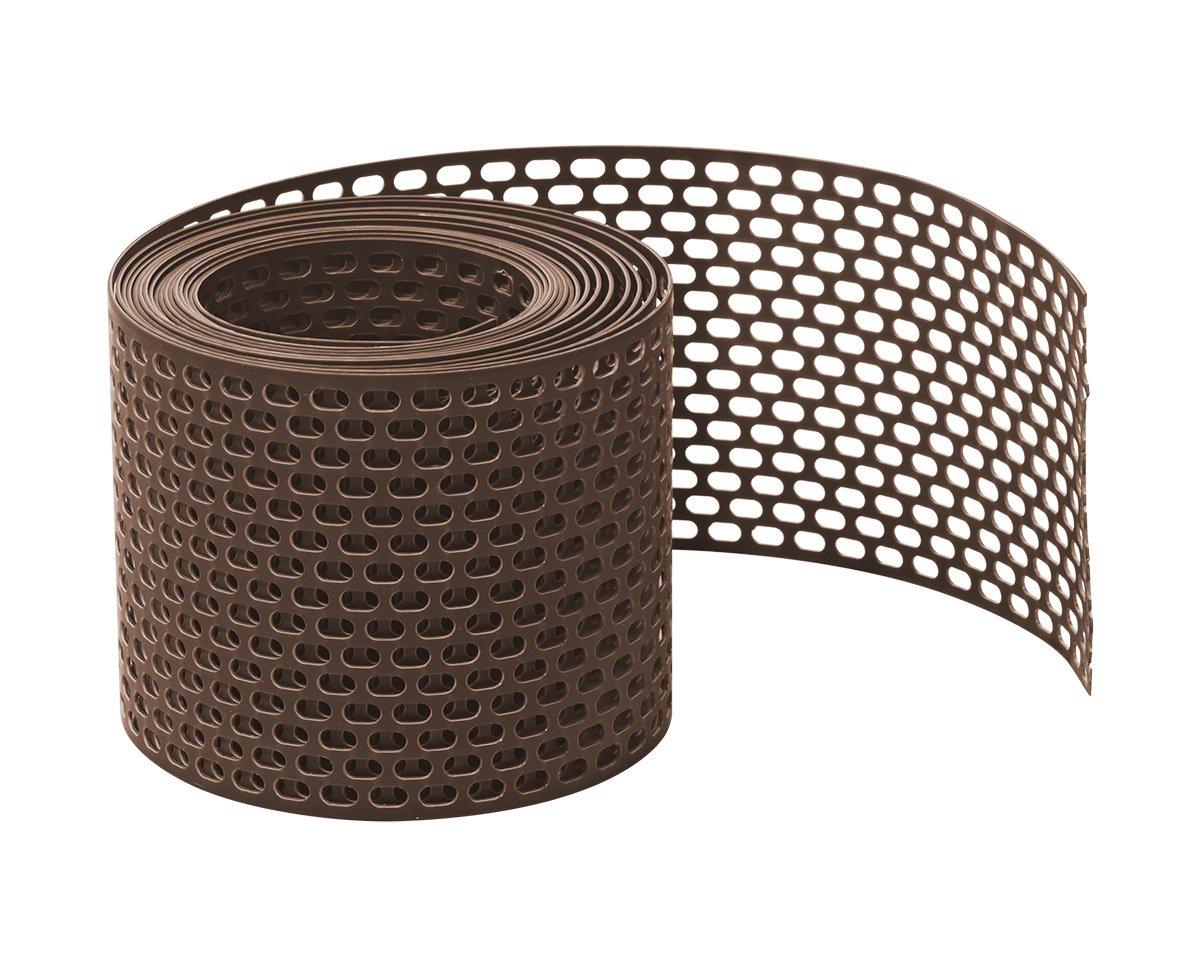 PVC gerollt L/üftungsgitter 500 cm x 100 mm Fassadenprofile L/üftungsstreifen Marderschutz Fassade